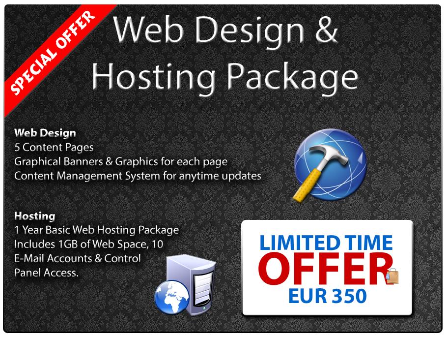 Malta Web Design & Hosting Special Offer